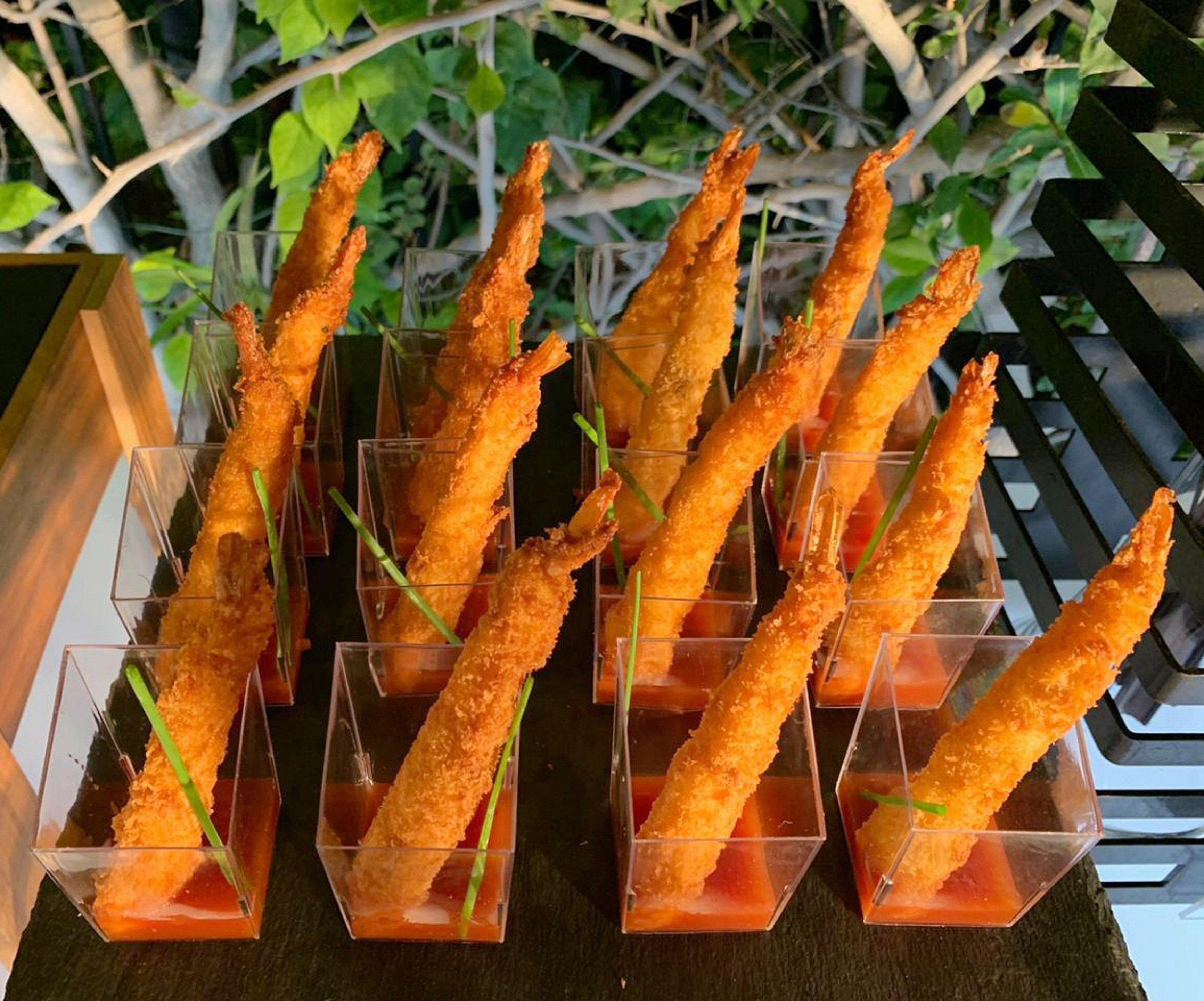 Crispy Prawns with Chili Dip