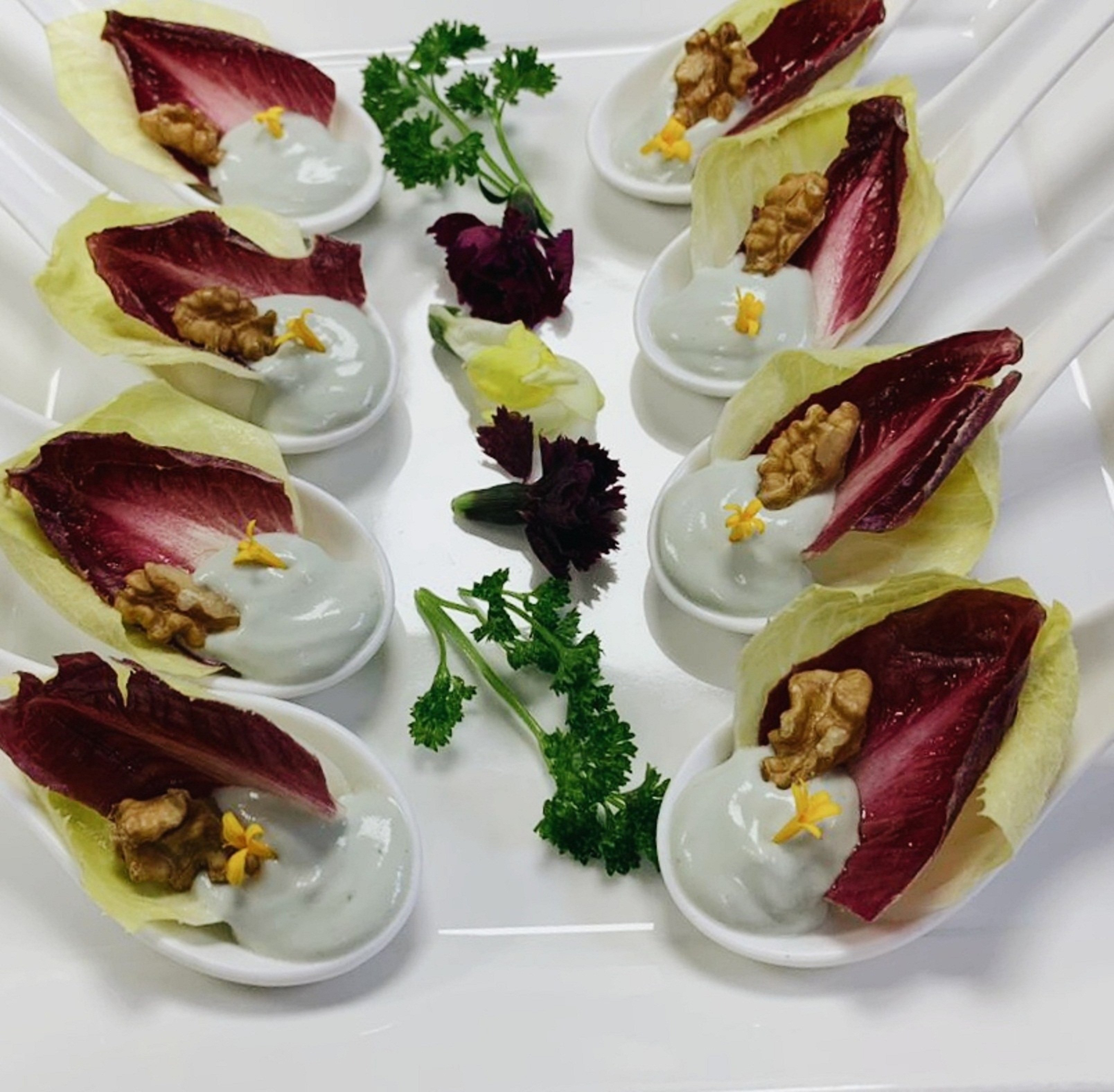 Endive Roquefort Spoon with Walnuts