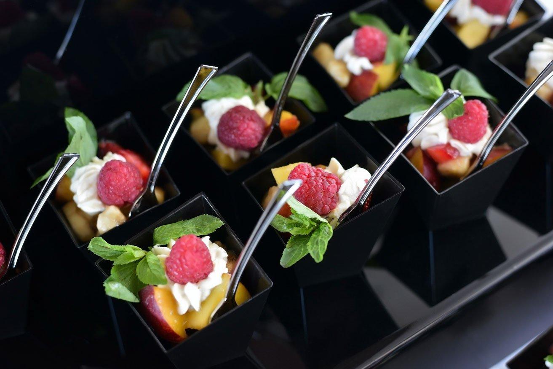 Fruit Salad Shots with Cream