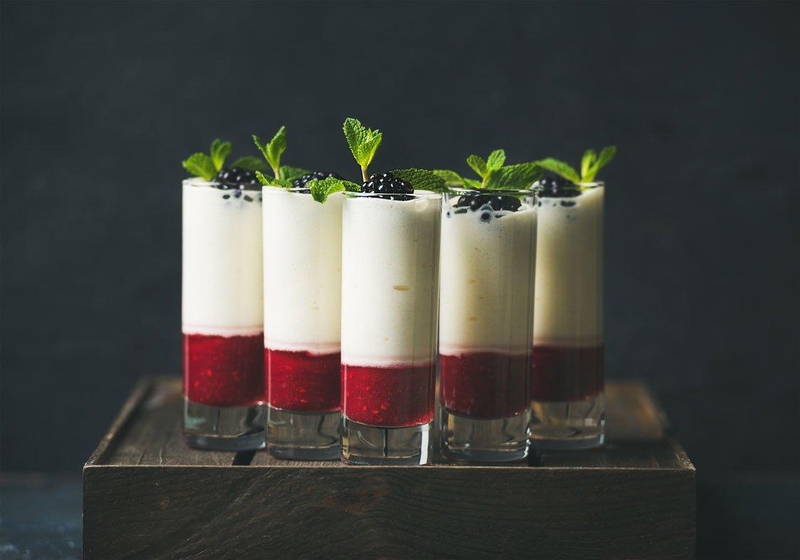 Rasberry Coulis wirh Ricotta Cream